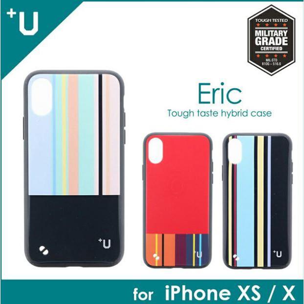 日本Leplus iPhone XS/X【+U】Eric 條紋彩繪防摔殼 890特價690