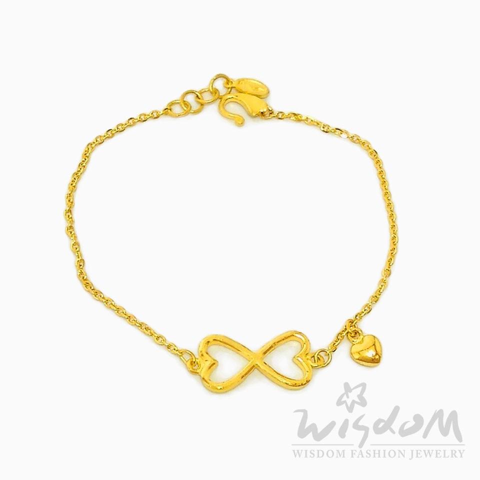 威世登 黃金心型手鍊 GC01014-ABXX-FIX