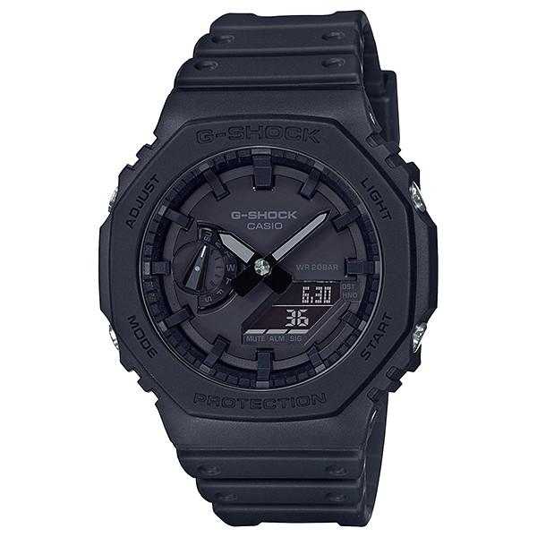 CASIO現貨 台灣原廠公司貨GA-2100-1a1 全黑熱賣款( 需搭配不鏽鋼錶套件 )