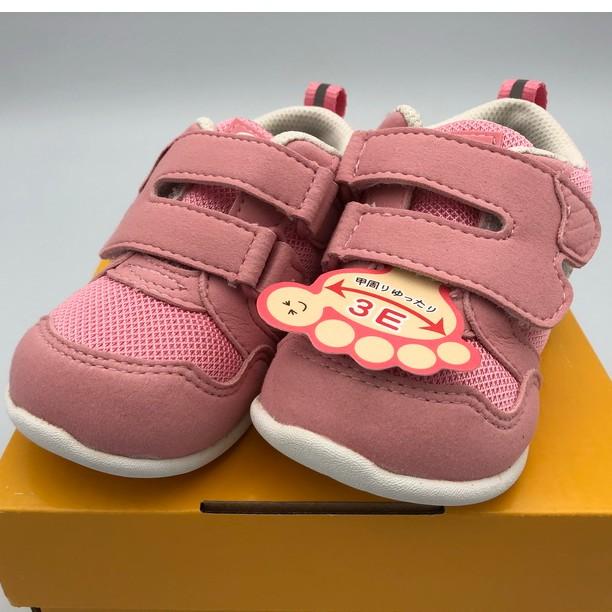 《日本Moonstar》休閒布鞋 Hi+3E系列-粉(12-15.0cm)M111421FW