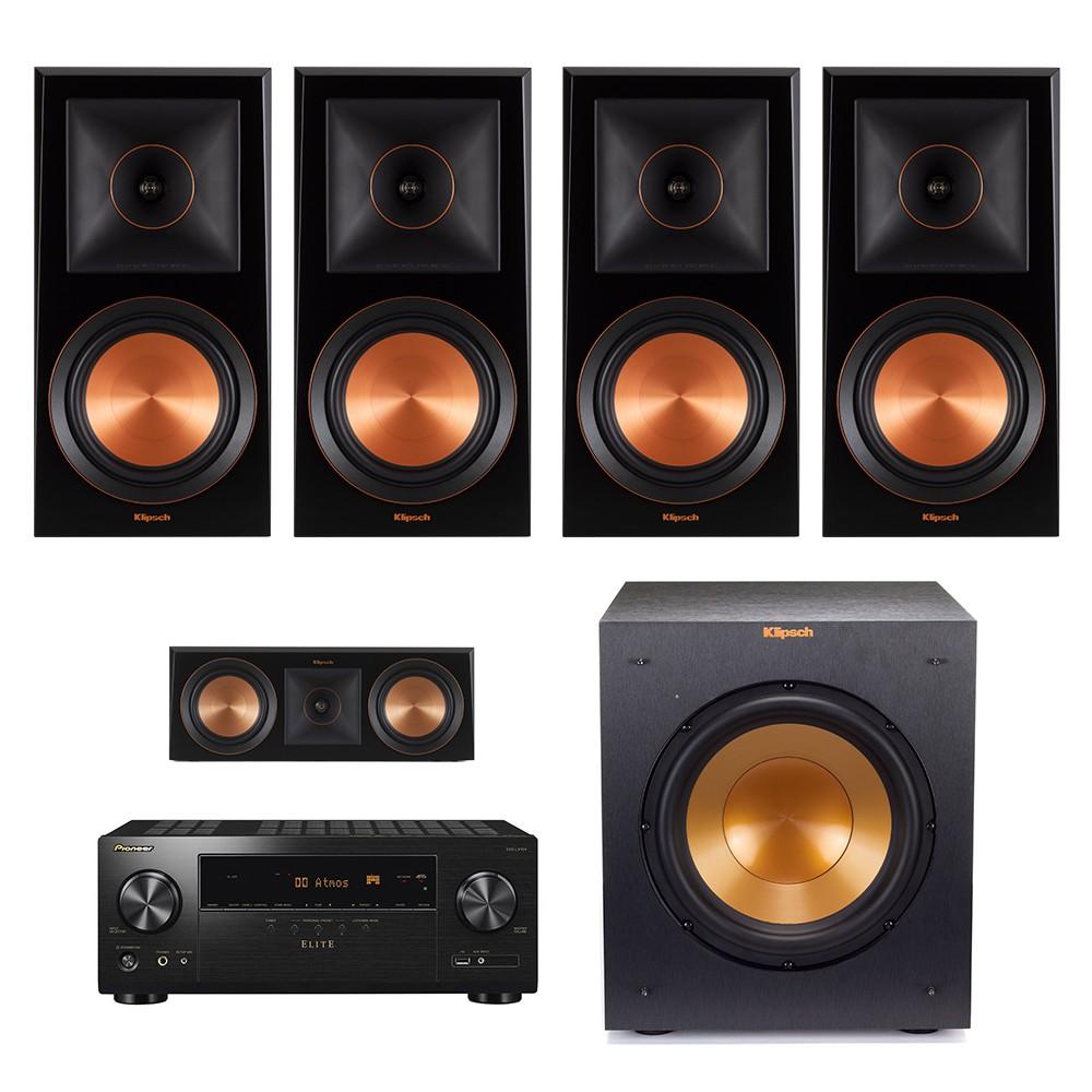 【請先詢問】美國Klipsch RP-600m二對+RP-500c+R-10SWi+LX-104 (5.1聲道喇叭組)