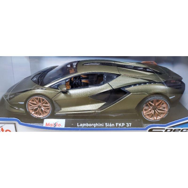 【小如的店】COSTCO好市多代購~Maisto 美馳圖 1:18模型車-Lamborghini Sian FKP 37