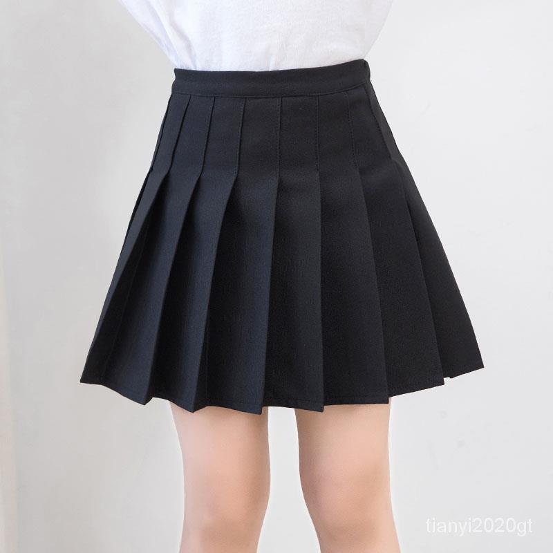 夏裝短裙夏天兒童女童夏季半身裙百褶裙新款洋氣女孩韓版黑色