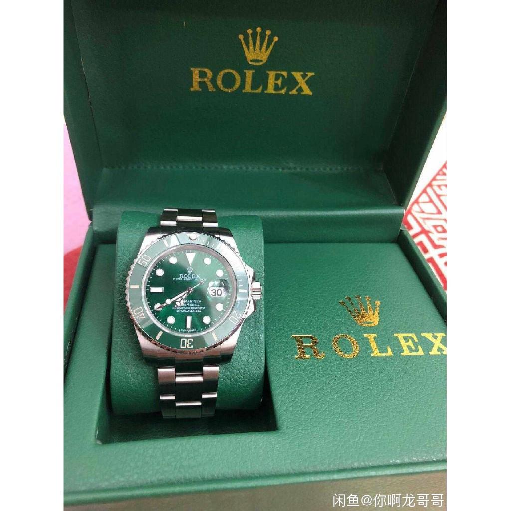 超高仿 勞力斯頓 Rolex 裝逼神器 綠水鬼 商務男士 防水手錶 石英錶 時尚潮流現貨