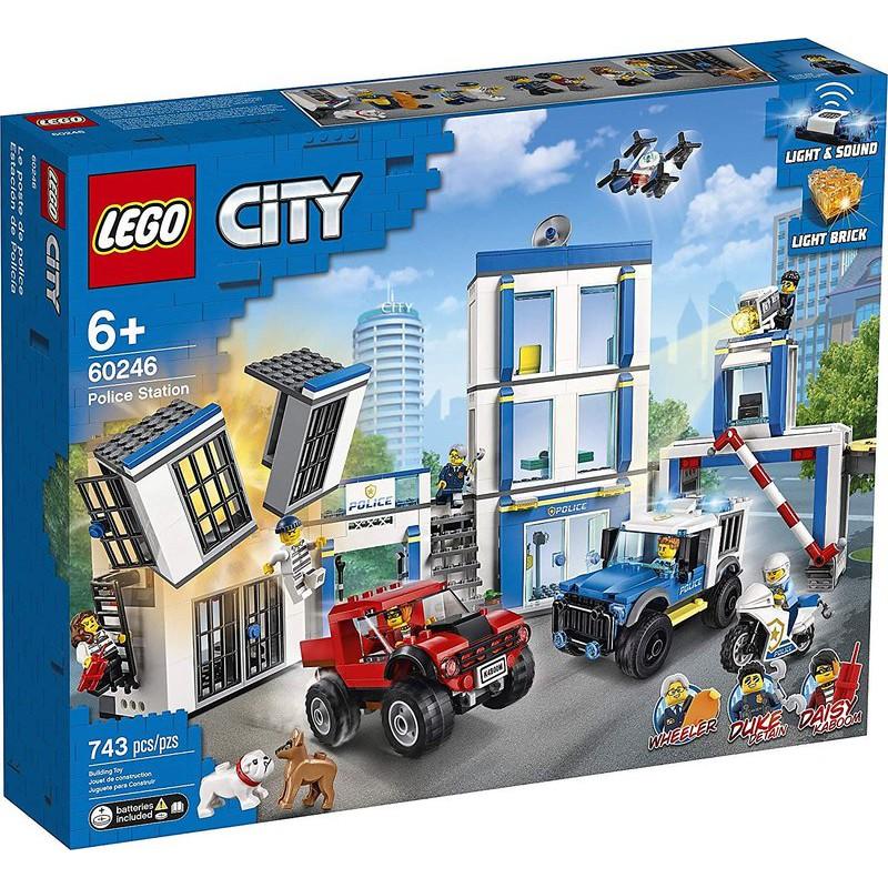 正版樂高LEGO CITY 城市系列 LEGO 60246 警察局
