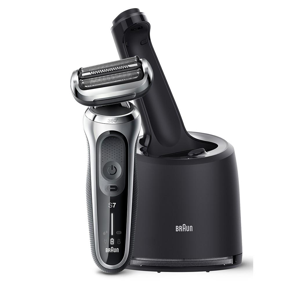 德國百靈BRAUN-新7系列暢型貼面電動刮鬍刀/電鬍刀 70-S7001cc 贈Medisana-震動按摩槍