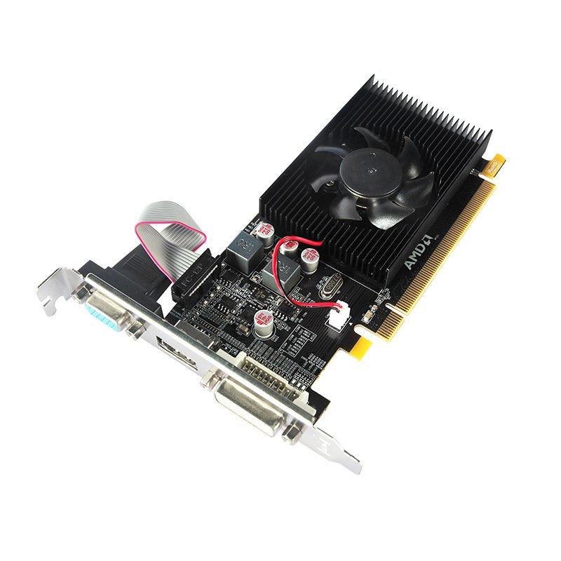 【現貨速發】關注立減 全新amd顯卡 HD6450 1G顯卡小機箱半高刀卡高清檯式電腦獨立顯卡