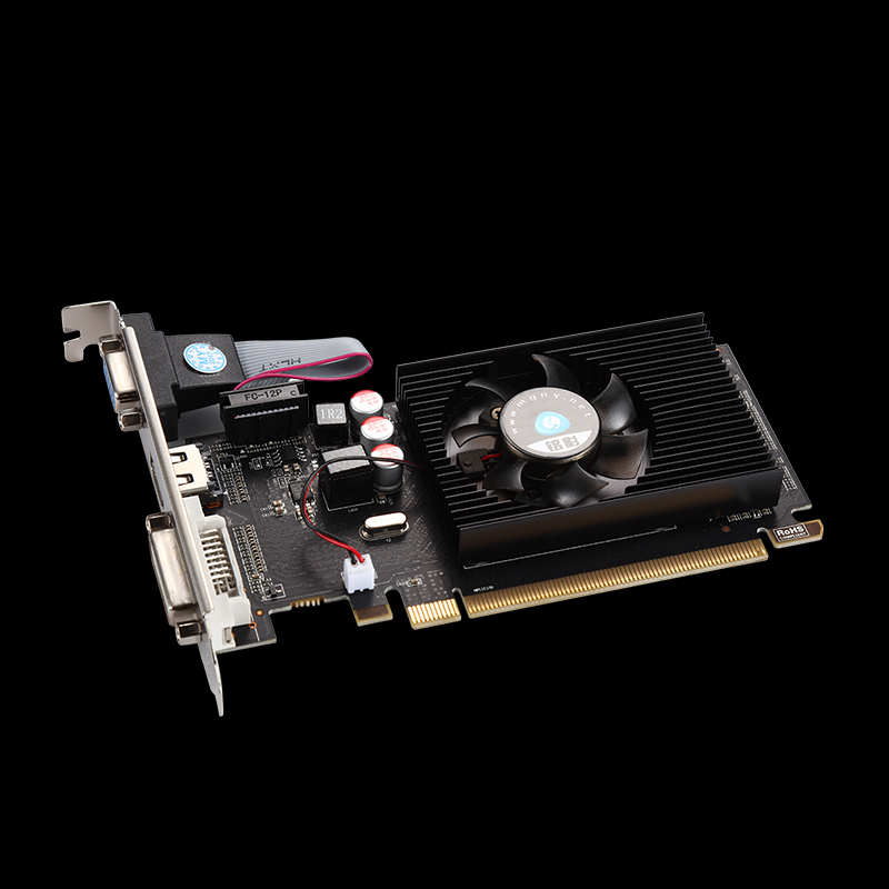 #熱銷#免運銘影HD6450 獨顯D3獨立1G台式機電腦遊戲半高刀卡顯卡虐GT710 2G