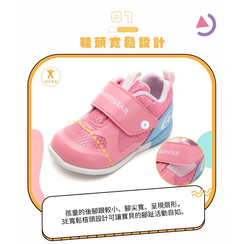日本🇯🇵Moonstar MSCN系列-2E護踝寶寶學步鞋童鞋-粉藍 13碼 二手出清