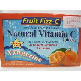 天然成~低糖、低卡天然泡泡C(蜜柑)8.5公克×30包/盒
