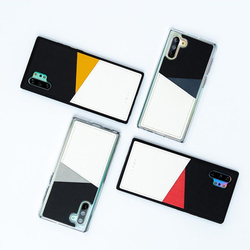 韓國正版賈靜雯同款三星note10+plus插卡手機殼5g可放卡硅膠套潮