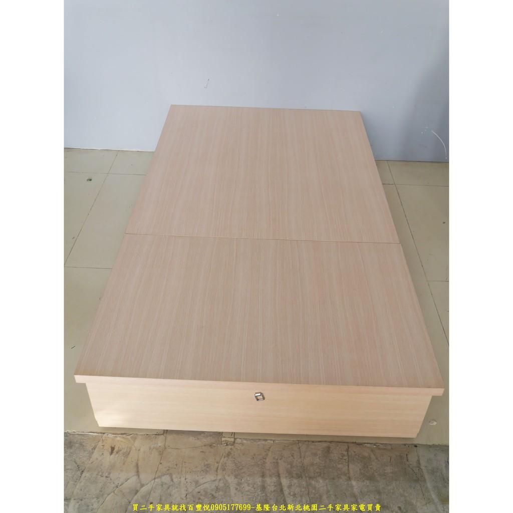 二手家具推薦台中百豐悅2手傢具買賣-二手白橡色單人加大3.5尺雙抽床底 單人床台床組 台中二手傢俱買賣彰化2手家電買賣
