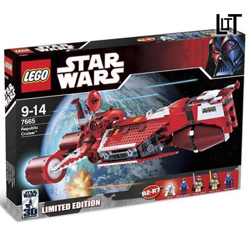LT 兼容樂高星球大戰7665共和國巡洋艦拼裝積木人仔益智玩具收藏男孩❤