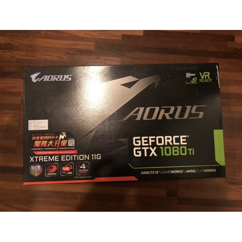 技嘉顯示卡gigabytes Aorus GeForce gtx 1080ti 11g