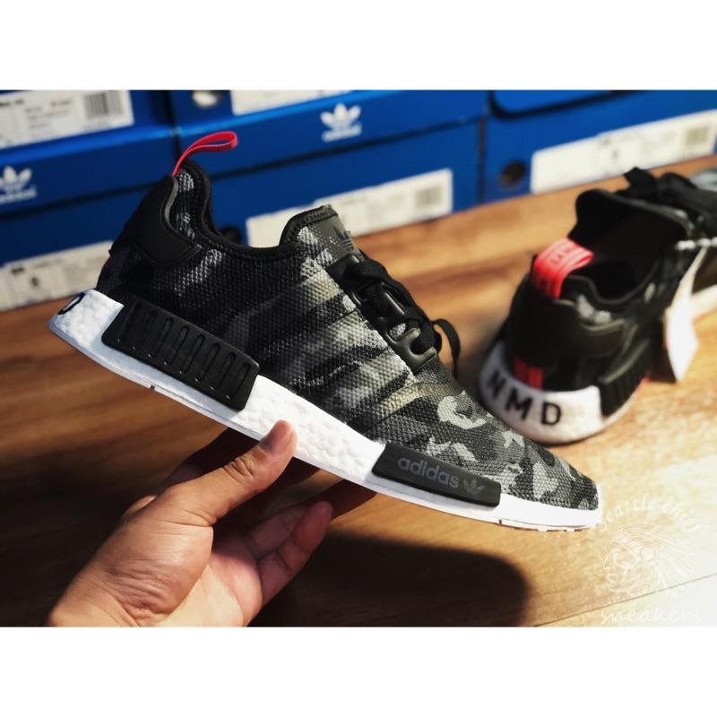 sale retailer 02709 62bdc Adidas Nmd R1 Camo 黑迷彩 屁股Nmd字樣 G27913