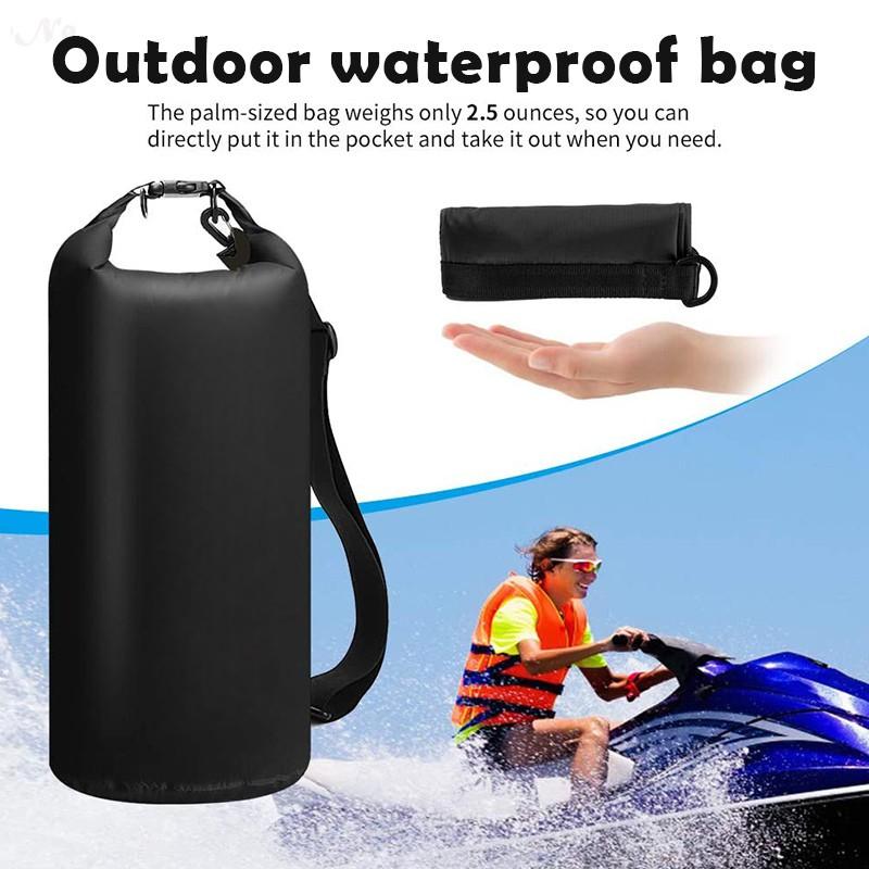 A.Go 。乾袋防水袋 10l | 20l 3 合 1 手機袋和防水腰包男士皮划艇板露營船運動