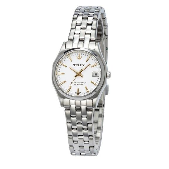 台灣品牌手錶腕錶【TELUX鐵力士】雋永經典女腕錶手錶23MM另有男款台灣製造石英錶250122L-W12
