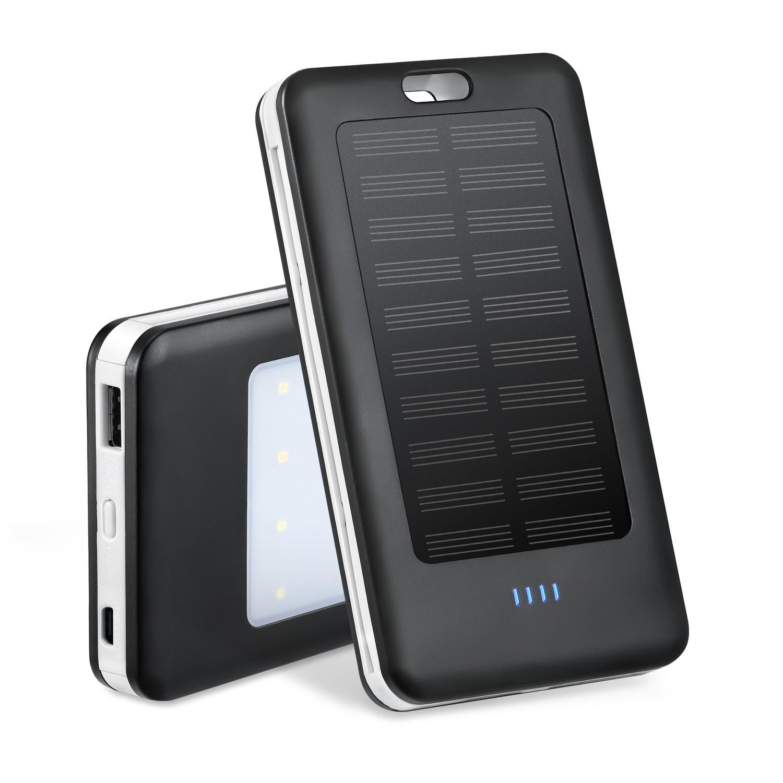 ►現貨免運►行動電源 帶線太陽能充電寶自帶線充電寶太陽能移動電源大容量充電寶