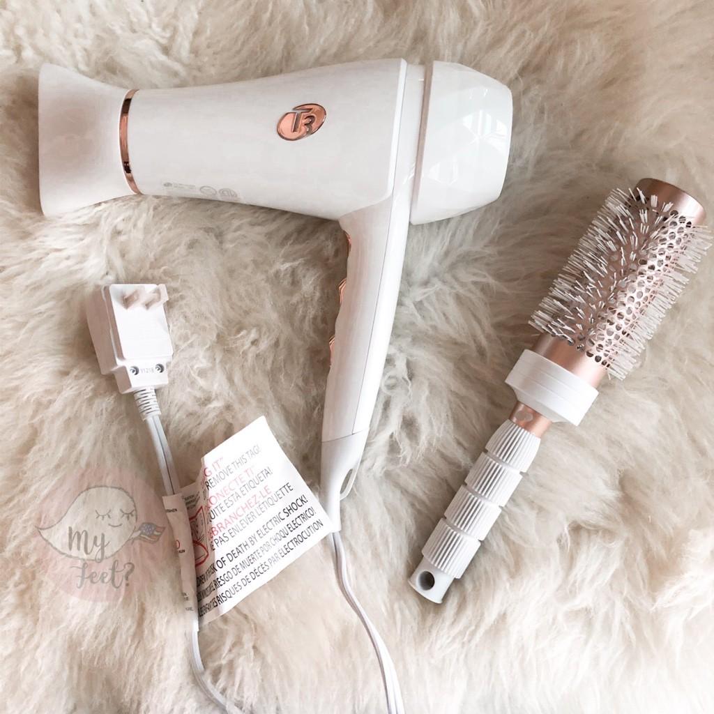 👻現貨🇺🇸T3 Featherweight luxe 2i 羽量奢華吹風機+圓梳 負離子護髮 吹風機 組合
