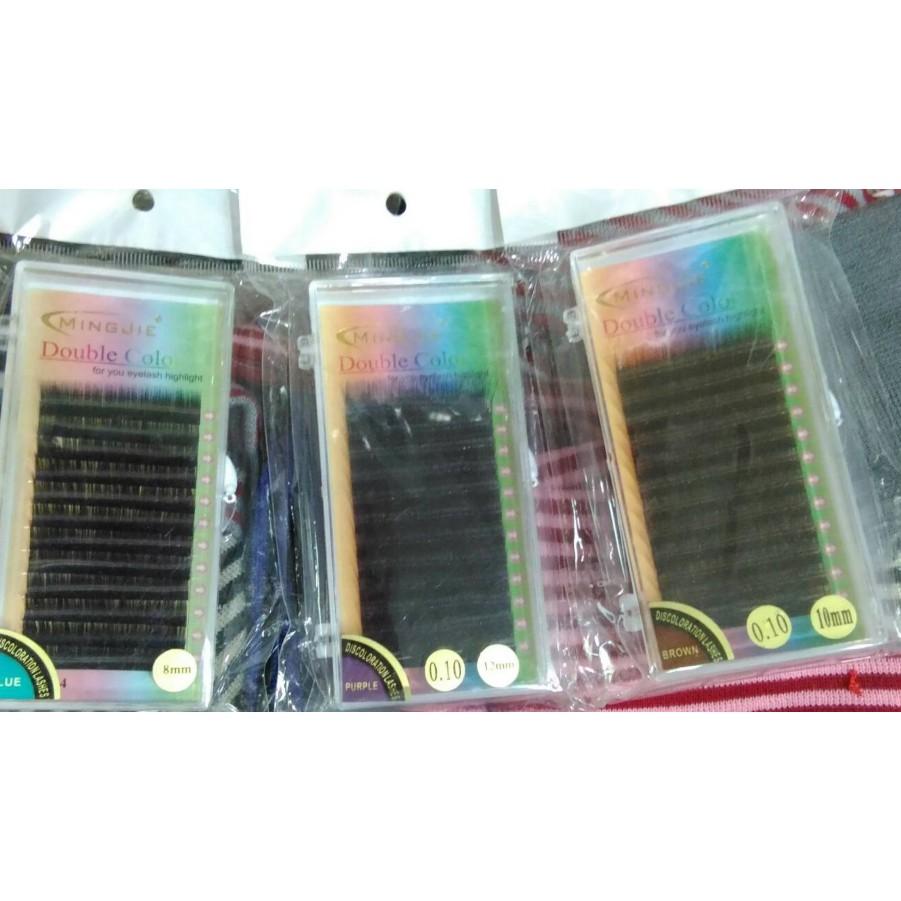 風靡日韓黑藍黑紫黑咖睛彩絕色0.10全部都有8mm10mm12mm尺寸同款12排漸層睫毛彩睫3D6D9D特優惠價買3送一