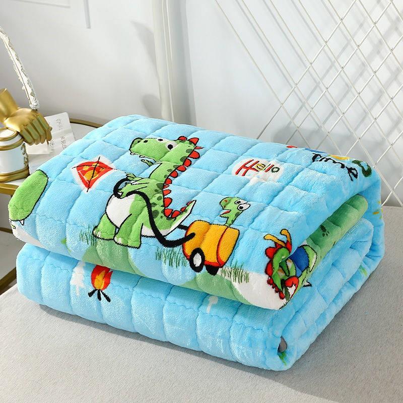 法蘭絨毯子 寶寶毯 純色羊羔絨毯 保暖毯 冬季法蘭絨床單毛毯毯子雙人珊瑚絨法萊絨單件夾棉加絨床墊防滑