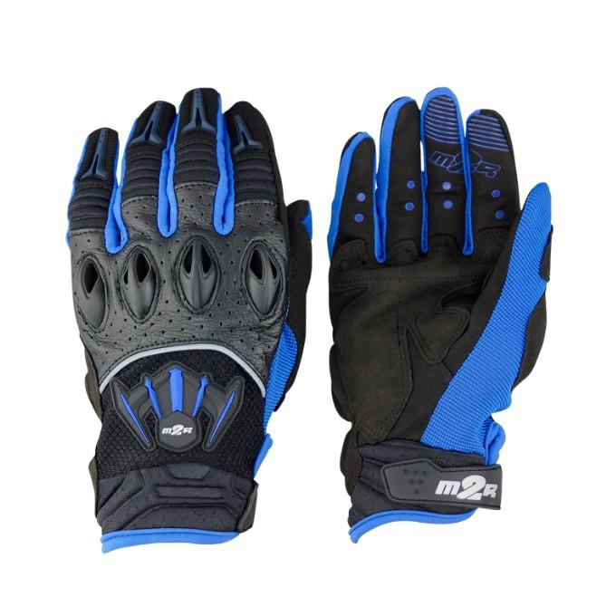 M2R G-06 G06 透氣 休閒 造型 防摔 觸控 手套 - 黑/藍/紅