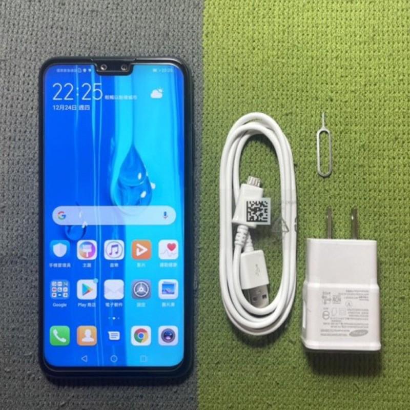 HUAWEI Y9 2019 64G 9成新 黑 雙卡雙待 指紋辨識 臉部辨識 華為 二手機回收 中古機 面交 貨到付款