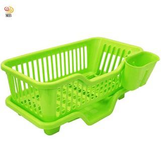 全新特價大容量三件排水式碗盤收納瀝水架餐具架筷籠(442317) 台北市