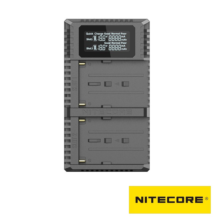 NITECORE USN3 PRO USB雙槽 快充 充電器 / Sony NP-F750/F970/F550 電池用