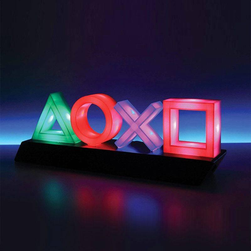 2021 PS4 PS5 USB 音樂呼吸燈 PlayStation 按鈕圖案燈 炫彩 Icons Light 交換禮物