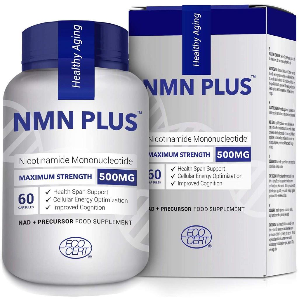 美國進口 - NMN Plus(β-煙酰胺單核苷酸)500毫克 60粒 ;可搭配白藜蘆醇
