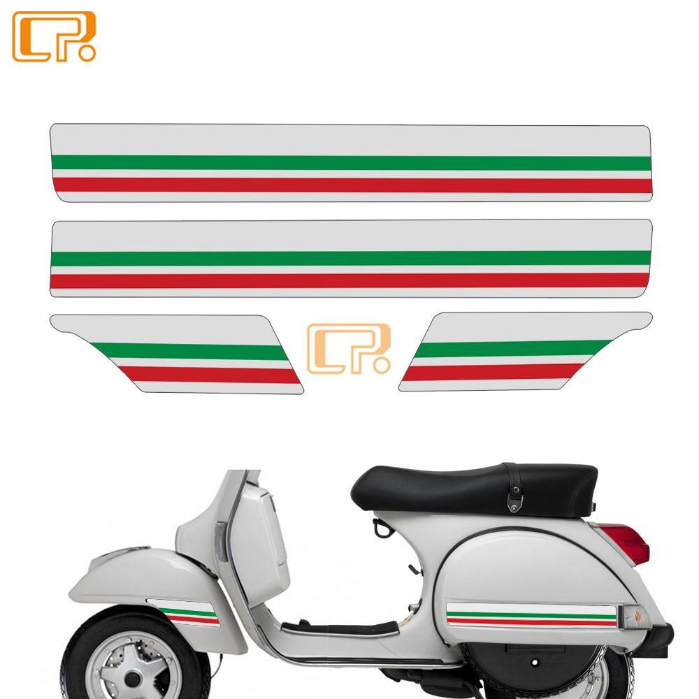 Vespa維斯帕 PX T5 踏板車-5 比亞喬摩托車貼紙 側面板反光貼紙 裝飾防水貼花