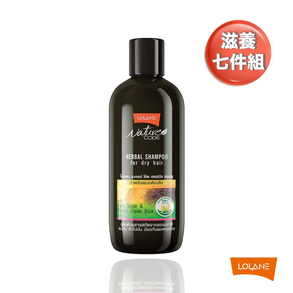 LOLANE 自然髮典舒敏髮浴-滋養(280ml) 七件組