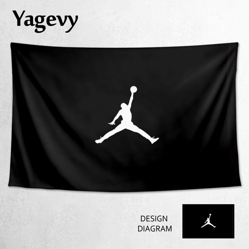 【二貨商店】潮牌Air Jordan飛人喬丹籃球AJ鞋店裝飾海報背景布掛布墻布掛毯