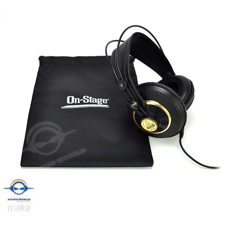 On-Stage HB4500耳罩式耳機通用防塵收納袋(AKG、SONY、Sennheiser適用)【音響世界】