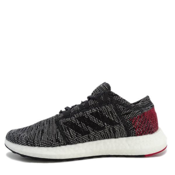 Adidas Pureboost Go 男鞋 運動 休閒 慢跑 輕量 針織 避震 支撐 愛迪達 灰紅 [AH2323]
