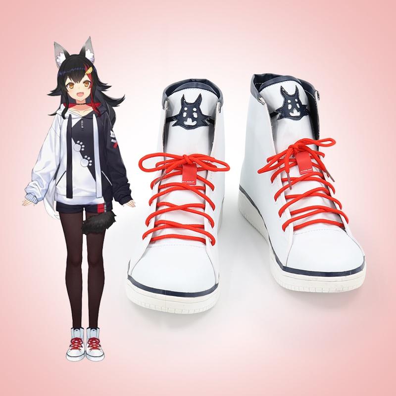 【台灣現貨】Hololive vtuber 大神澪cos演出鞋 遊戲動漫Cosplay靴子看圖定製