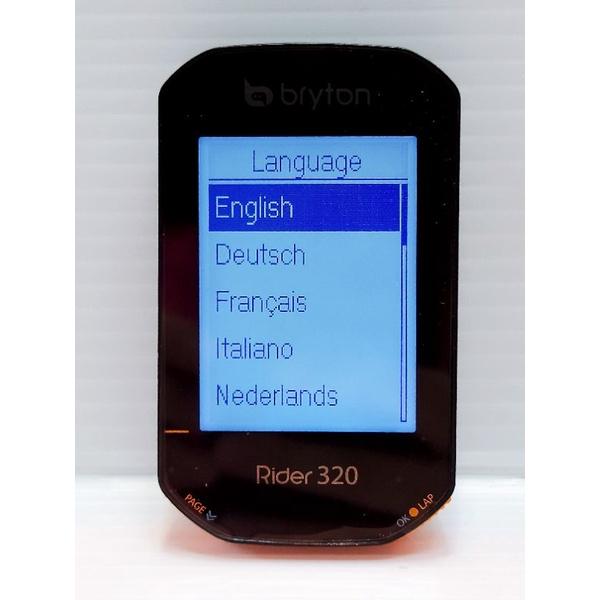 只使用過5次的碼表,很新 Bryton Rider 320E GPS碼錶 全中文碼表 320 E 保固內碼表