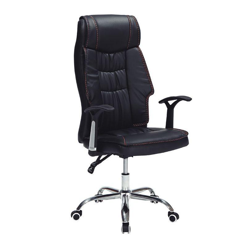 【RA914-11】F012辦公椅(黑皮)