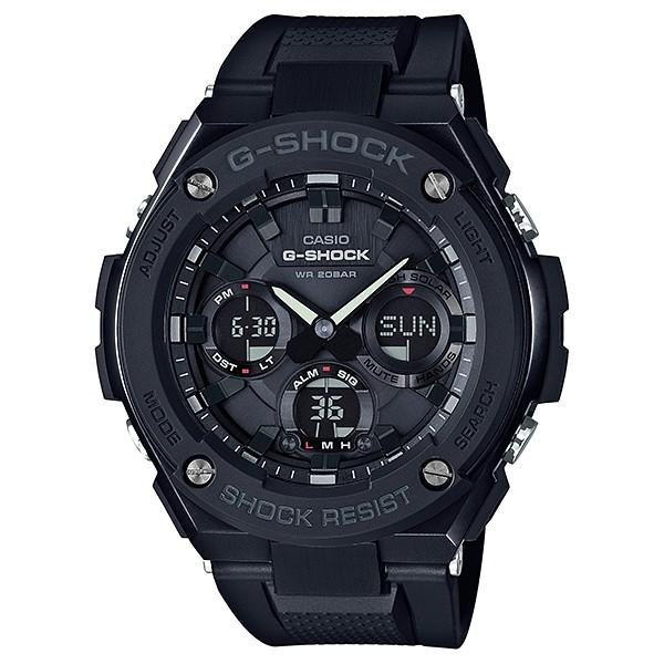 CASIO卡西歐G-SHOCK 太陽能 鬧鈴 膠帶錶-消光黑GST-S100G-1B  GST-S100G