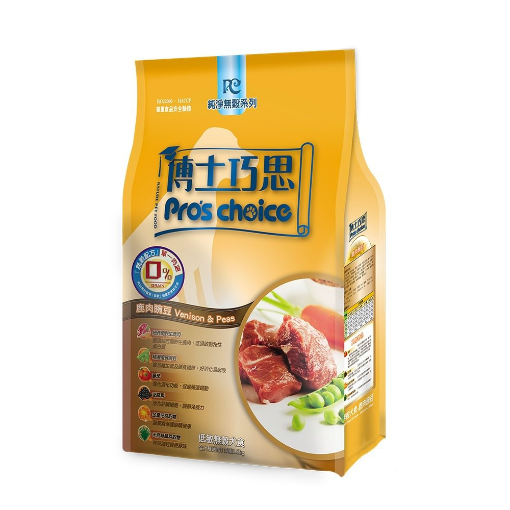 博士巧思 生機純淨無穀犬糧-鹿肉豌豆6kg (A831A07)