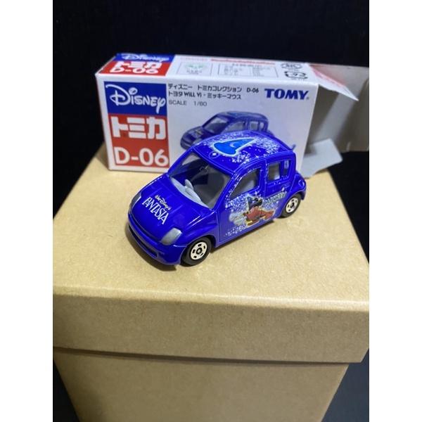 (二手)車全新 盒況如圖 TOMICA 迪士尼 魔法 米奇 D-06 TOYOTA Will 藍紫