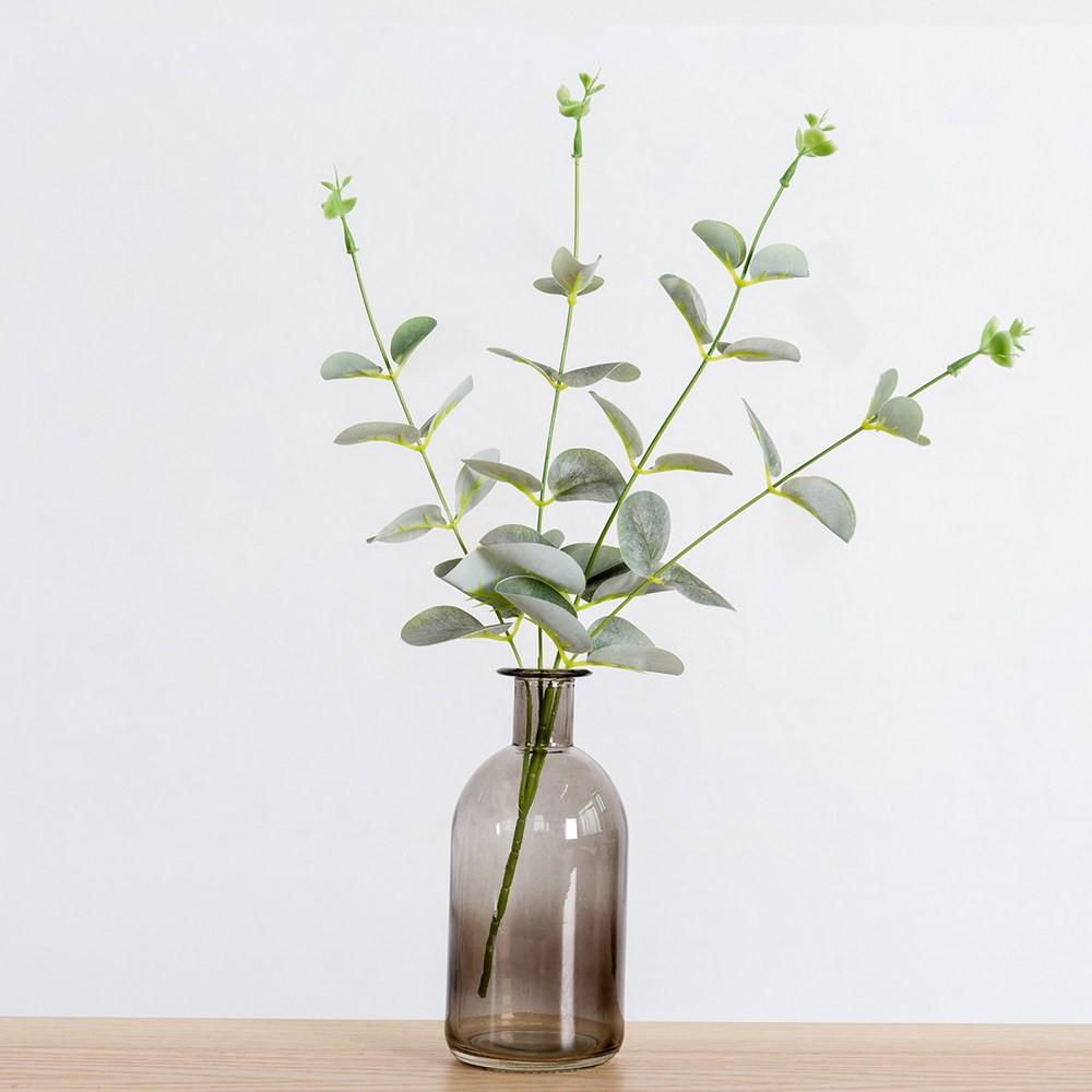 Zakka風創意窄口花瓶含人造花-綠植