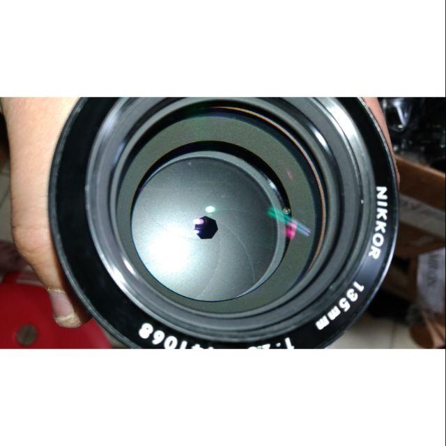 NIKON 135MM F2.8 NON AI K版 手動。鏡頭。美品。含前蓋 保護鏡 桃園