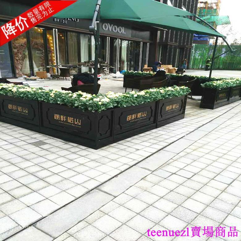 可到付款!【特價中】鐵藝戶外花箱鍍鋅不銹鋼板花槽 花器 花盆 花架 綠化種植箱 花筒