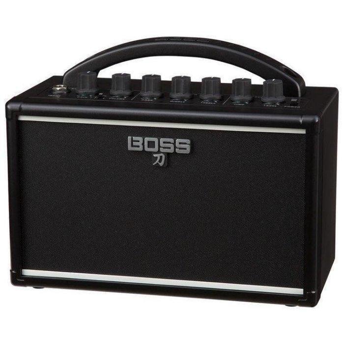 Boss 刀 Katana-Mini 7瓦 電吉他  旅行 小音箱 可接耳機 可裝電池 內建效果器[唐尼樂器]