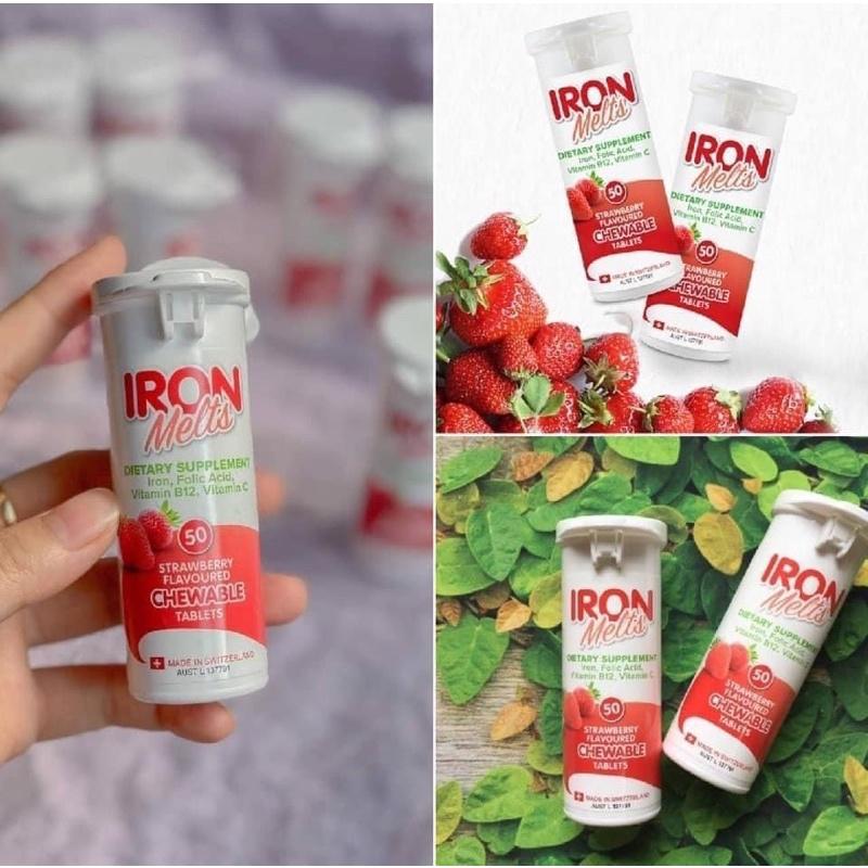 瑞士 IRON Melts 草莓口味補鐵片 50粒 (現貨)