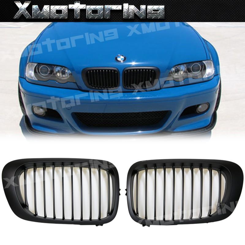 XM碳纖維精品BMW E46 98~01 小改前3系列 318i 318is 323i M3 雙門 霧黑 水箱護罩 鼻頭