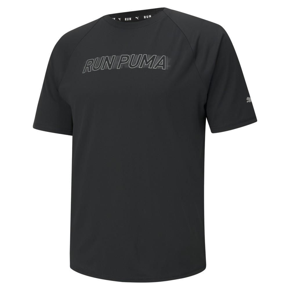 PUMA 慢跑系列Lite COOLadapt短袖T恤(M) 男短袖上衣 52022001 黑色