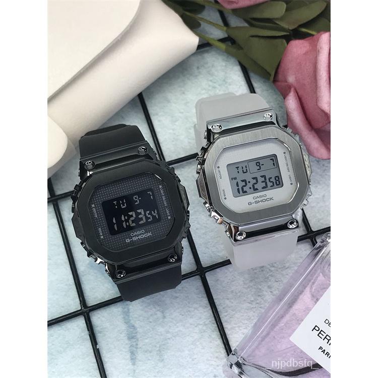 開學季卡西歐金屬方塊手錶女 G-SHOCK小銀塊玫瑰金塊GM-5600 GM-S5600PG qIU1